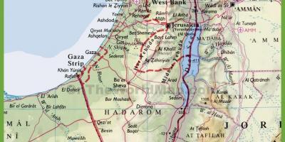 Israel Karte.Karte Von Israel Karten Israel West Asien Asia